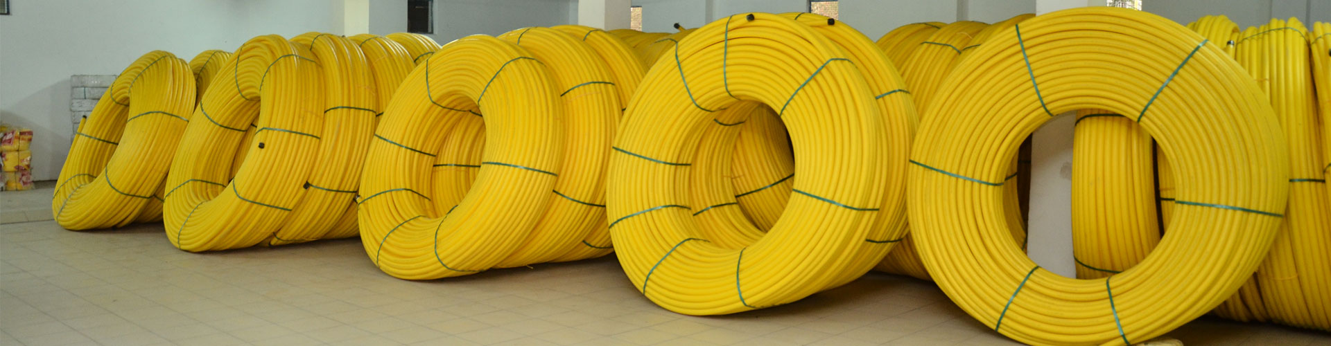 yellow telecom duct